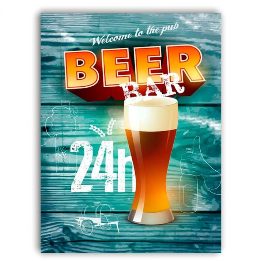 PLACA BEER BAR 30cm x 40cm