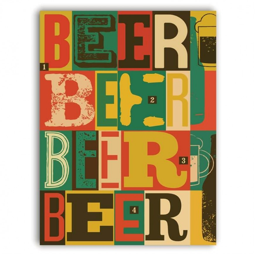 PLACA BEER COLORS 30cm x 40cm