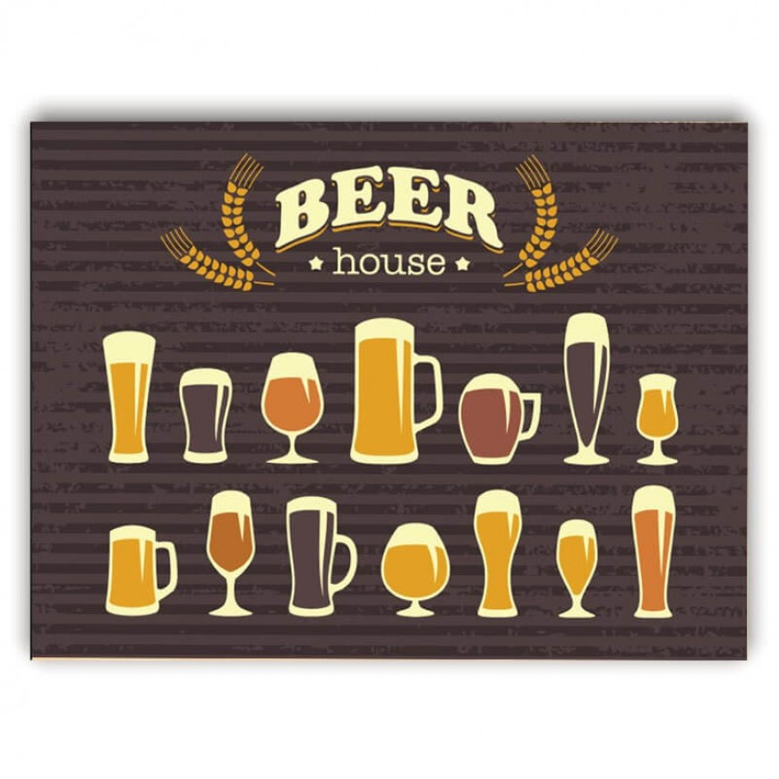 PLACA BEER HOUSE 30cm x 40cm