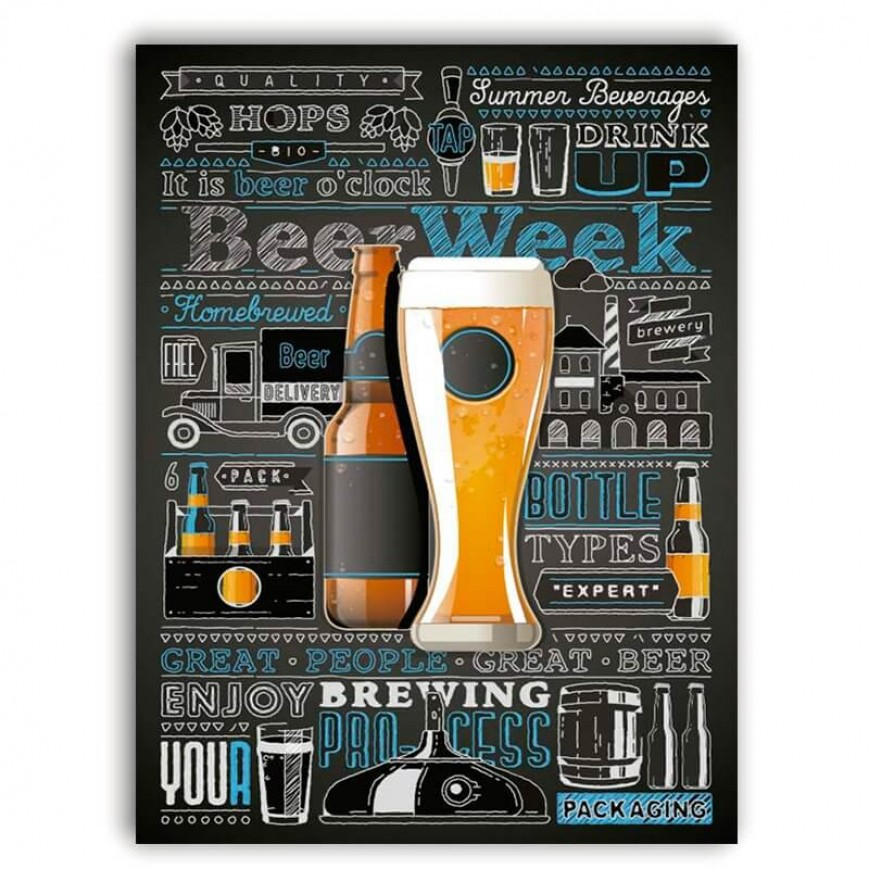PLACA BEER WEEK 30cm x 40cm