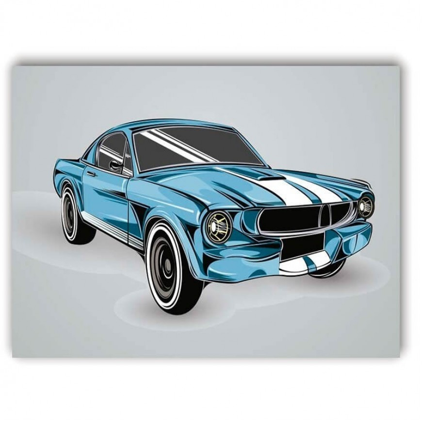 PLACA CAR BLUE 30cm x 40cm