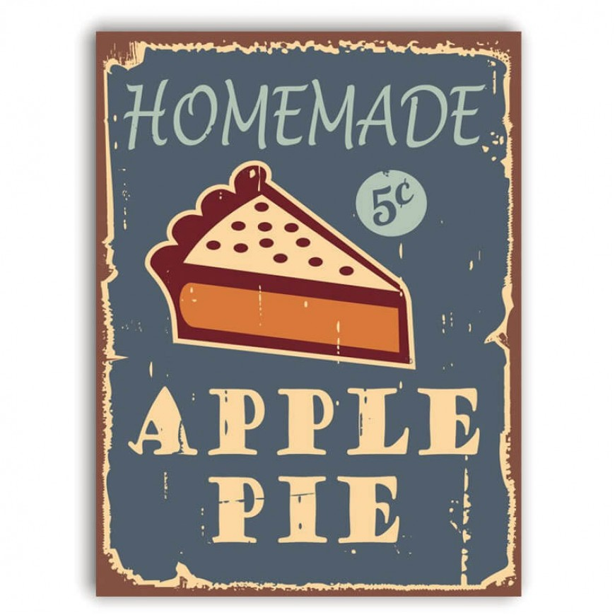 PLACA APPLE PIE 30cm x 40cm