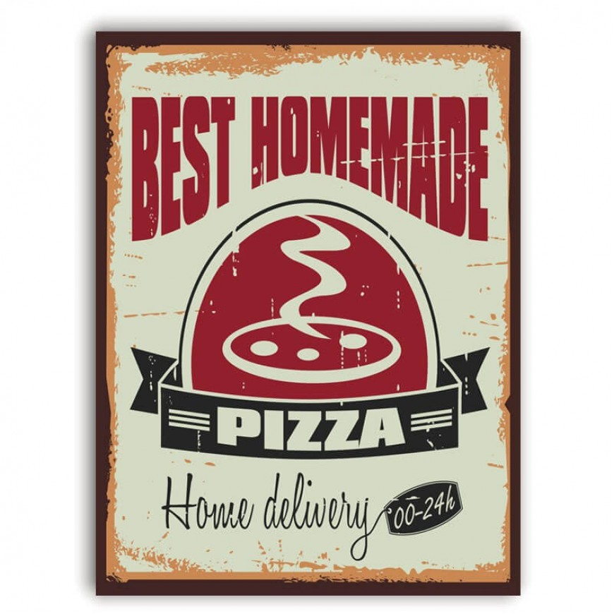 PLACA BEST PIZZA 30cm x 40cm