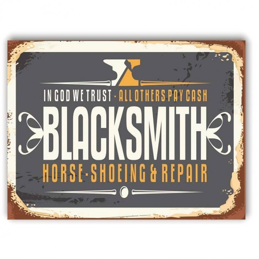 PLACA BLACK SMITH SHOEING E REPAIR 30cm x 40cm