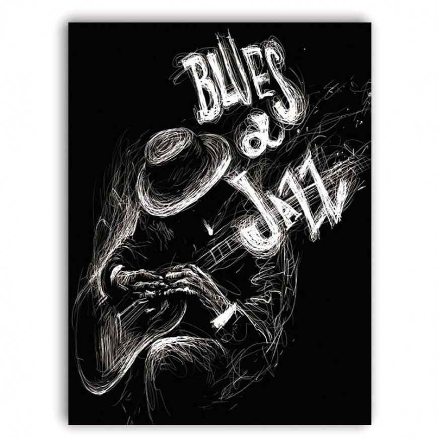 PLACA BLUES AND JAZZ 30cm x 40cm