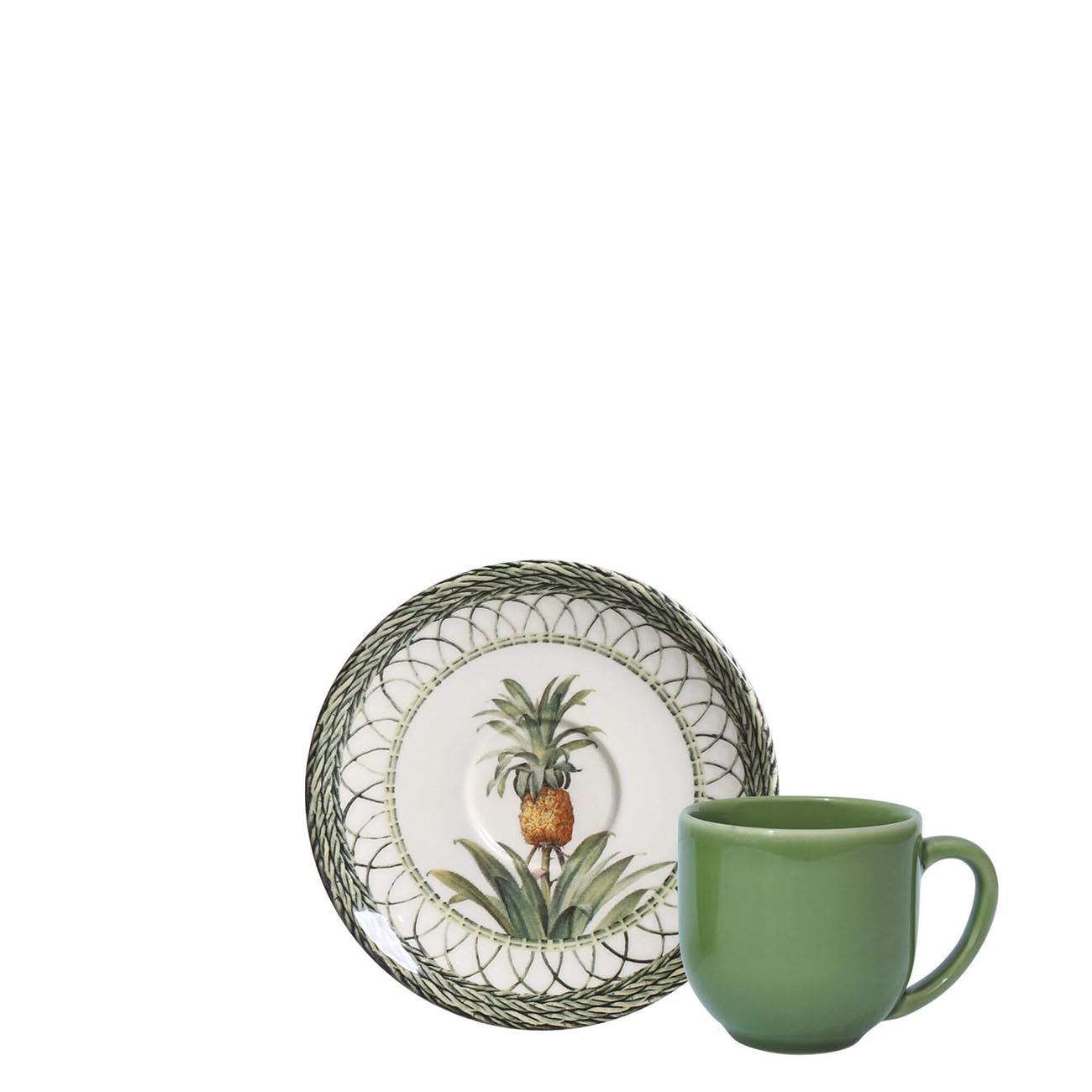 CONJUNTO XICARAS DE CAFE PINEAPPLE GREEN 6PCS PORTO BRASIL